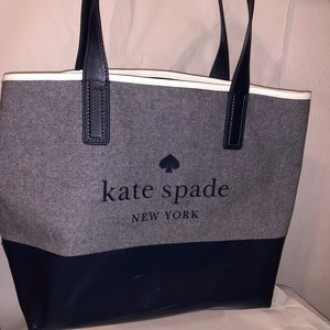 KATE SPADE Large Tote Handbag Purse Navy Blue